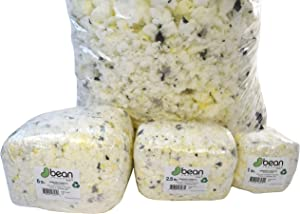 Bean Products Shredded Foam Fill - 10 LBs - All New Recycled Refill for Bean Bags, Pet Beds, Pillows. Made in USA