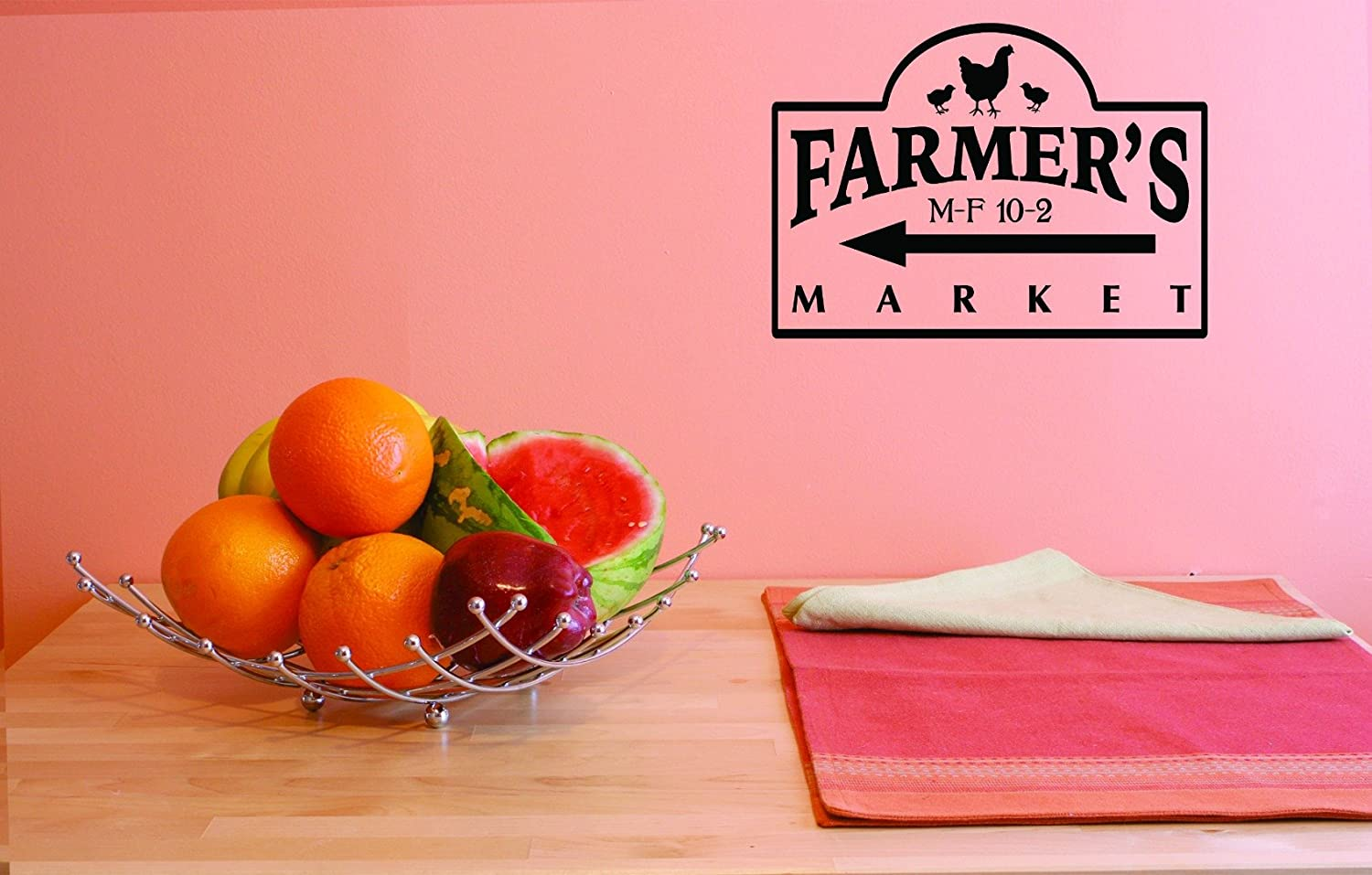 Design with Vinyl JER 1762 3 Hot New Decals Farmers Market Wall Art Size 20 Inches x 40 Inches Color Black 20 x 40
