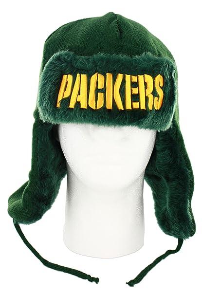 sale retailer a80b8 197e2 Amazon.com   Green Bay Packers Team Trapper Winter Hat   Sports Fan Beanies    Sports   Outdoors