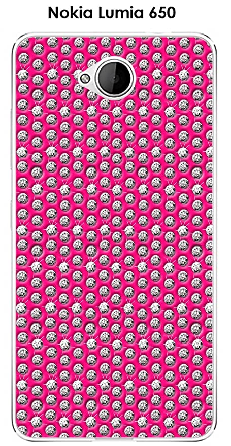 Onozo Cover Nokia Lumia 650 Design Diamanti Su Sfondo Rosa Amazon