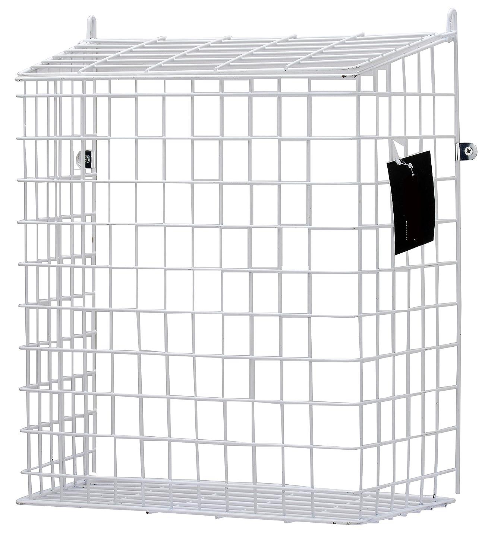 Outlet Letterbox Cage Door Letter Guard Basket Mail Catcher Post Box White  MarkUK®
