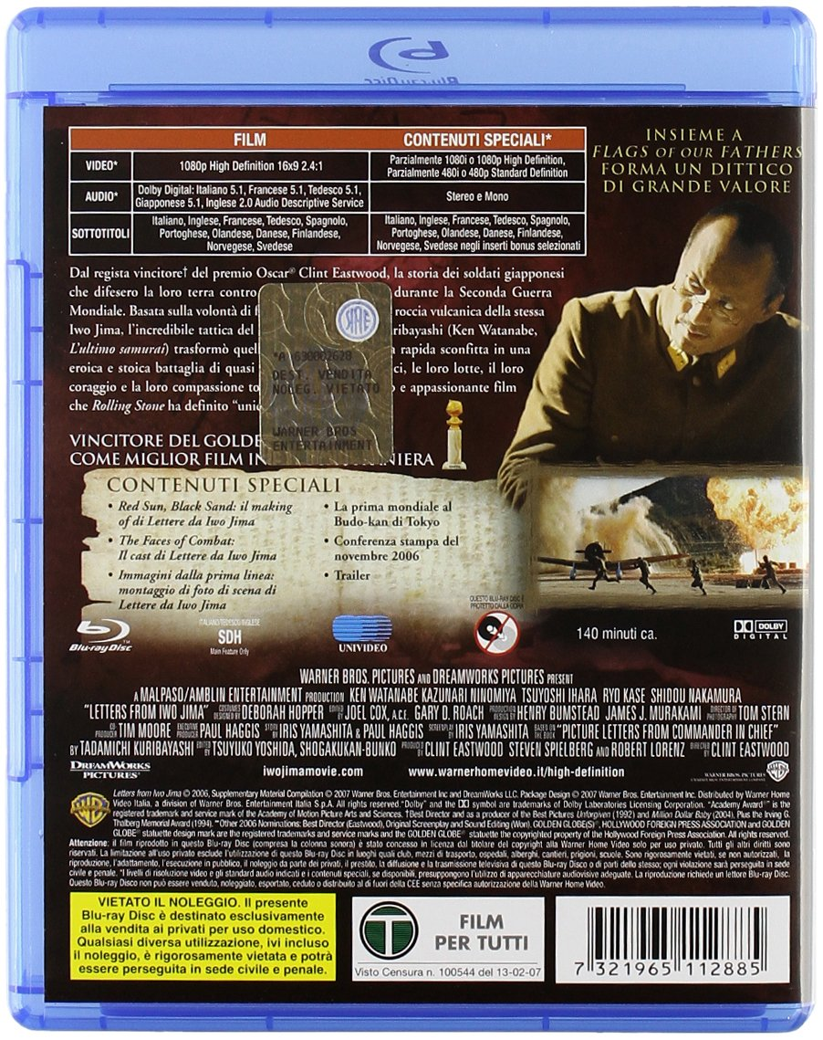 Lettere da Iwo Jima [Italia] [Blu-ray]: Amazon.es: Ken ...