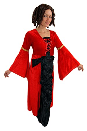 LADIES TEMPTRESS VAMP GOTHIC WIFE COSTUME HALLOWEEN FANCY DRESS WITCH WOMENS