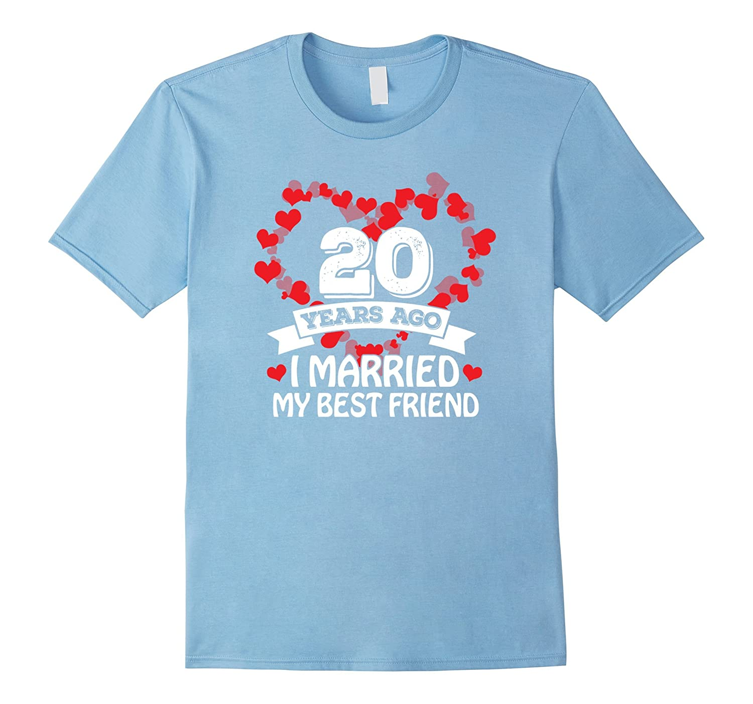 20th Wedding Anniversary Gift Ideas Husband And Wife T-Shir-PL