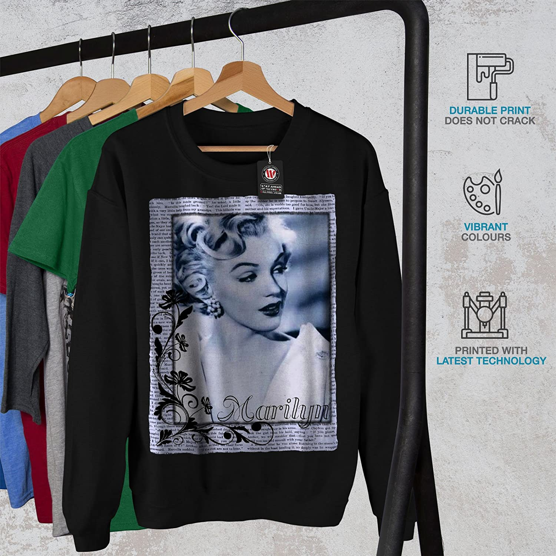 Landmark Casual Jumper wellcoda Marilyn Portrait Mens Sweatshirt