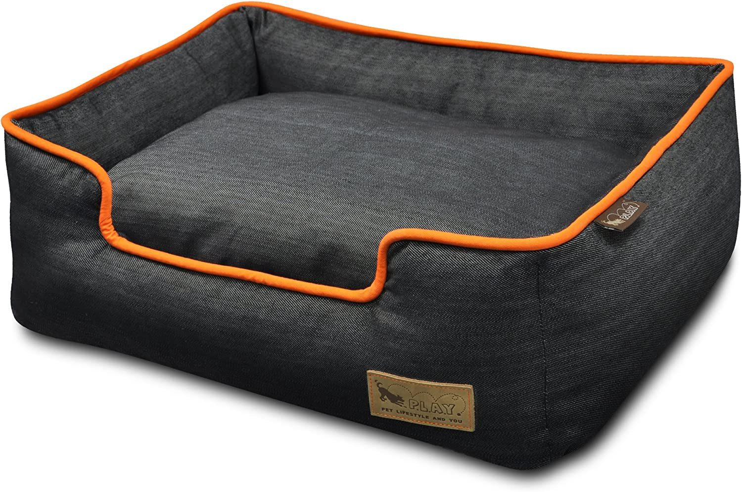 P.L.A.Y. Pet Lifestyle and You Eco-friendly Lounge Beds for Dogs, Removable and Washable Covers and Inserts, comes in Small Medium Large and XL sizes