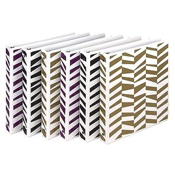 Samsill Fashion Design - Archivador con 3 anillas, impresión ...