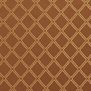Amazon Com E609 Diamond Green Brown And Gold Damask Upholstery And