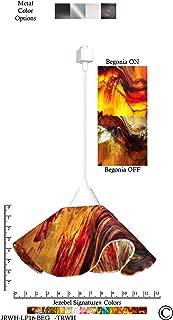 product image for Jezebel Signature Lily Track Lighting Pendant Large. Hardware: White. Glass: Begonia