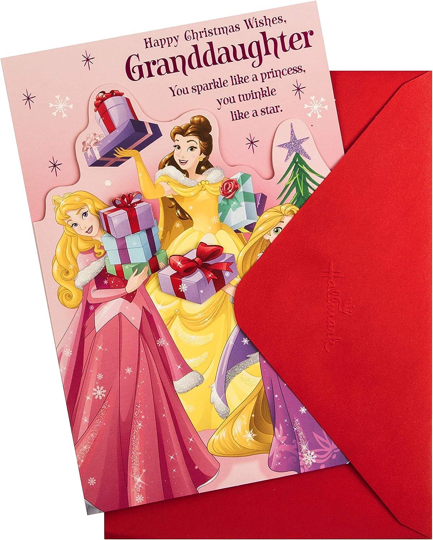 Disney Princess Design Christmas Card for Granddaughter from Hallmark