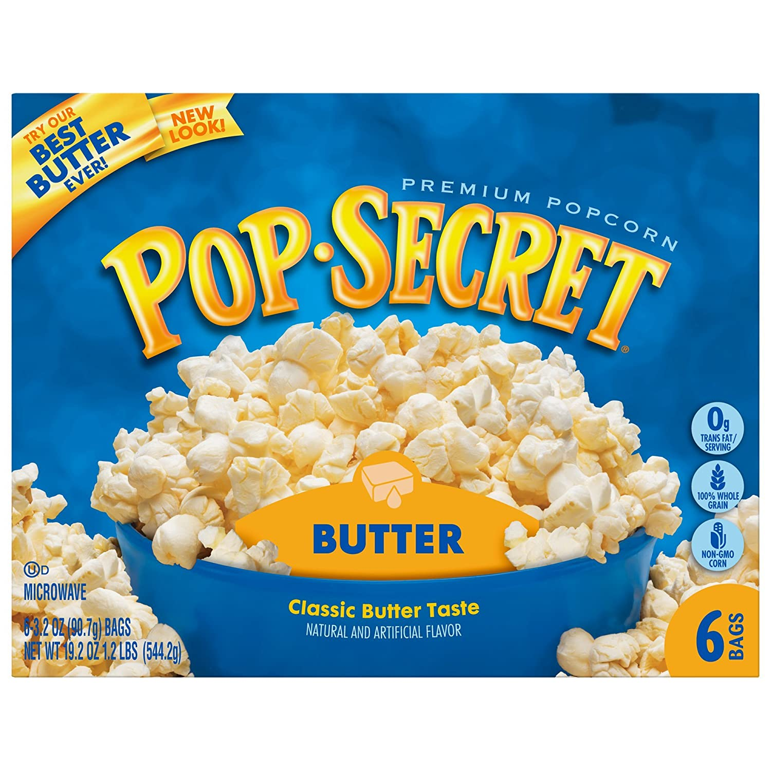 Pop Secret Butter Popcorn, 3.2 Ounce, 6 Count