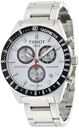Tissot Hommes T0444172103100 T-Sport PRS516 Quartz Chronographe Cadran Argent