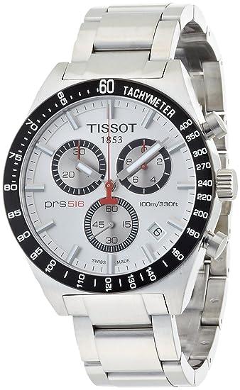 Tissot T0444172103100 - Reloj analógico de caballero de cuarzo con correa de acero inoxidable plateada: Tissot: Amazon.es: Relojes