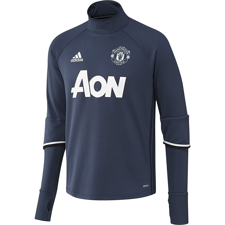 ADIDAS MUFC TRG TOP - Sweatshirt - Linea Manchester United FC - Herren, Blau Weiß