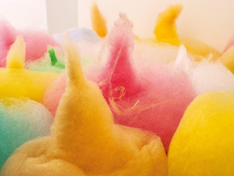 Set de fiesta de 6 x 230 gramos de algodón de azúcar para máquina de algodón de azúcar, incluye 100 varillas de algodón de azúcar: Amazon.es: Hogar