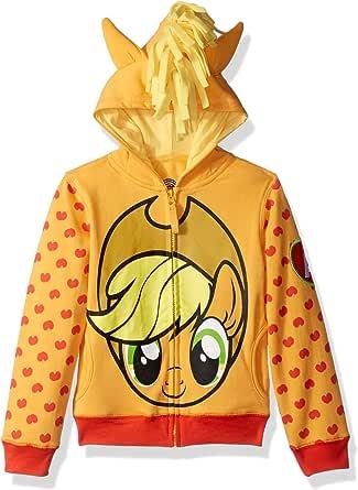 My Little Pony Girls Apple Jack Costume Zip-up Hoodie Long Sleeve Hooded Sweatshirt - Multi