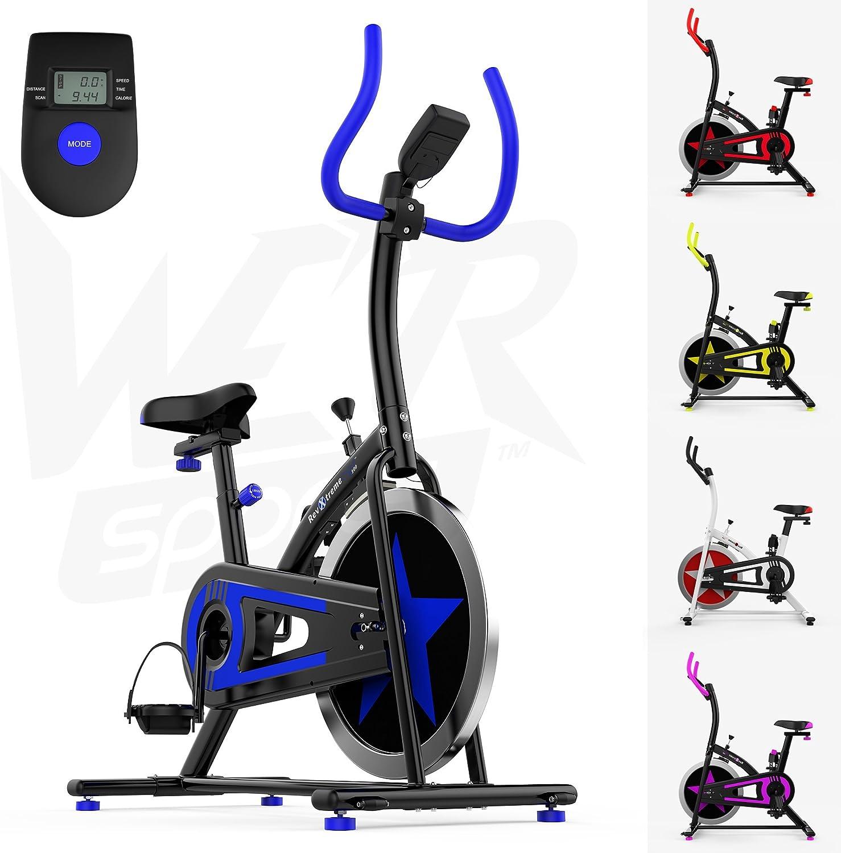 We R Sports Aerobio Entrenamiento Ejercicio Bicicleta Ciclo Aptitud Cardio Ejercitarse Casa Ciclismo Carreras Máquina (Azul): Amazon.es: Deportes y aire libre