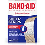 Band-Aid Brand Adhesive Bandages Sheer, 40 Count (Packaging May Vary)