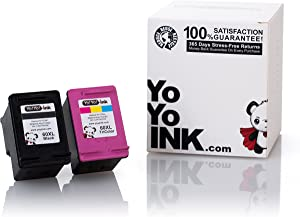 YoYoInk Remanufactured Ink Cartridge Replacement for HP 60XL 60 XL High Yield (1 Black, 1 Color; 2 Pack)