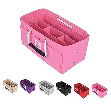 4cdcb1d6d23f5 FFITIN Filz Organizer für Handtaschen–Handtaschenorganizer mit  Tragegriffen–Beste Lösung  Fest fixierte Innenfächer