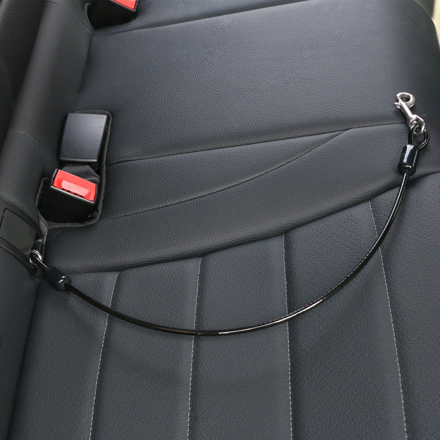 ENJOY PET Dog Seat Belt Car Seatbelts for dog Restraint Tether, Chew-proof Cable Seatbelt for Large Dogs, Coated Cable Vehicle Seatbelts for Safety, Large Size