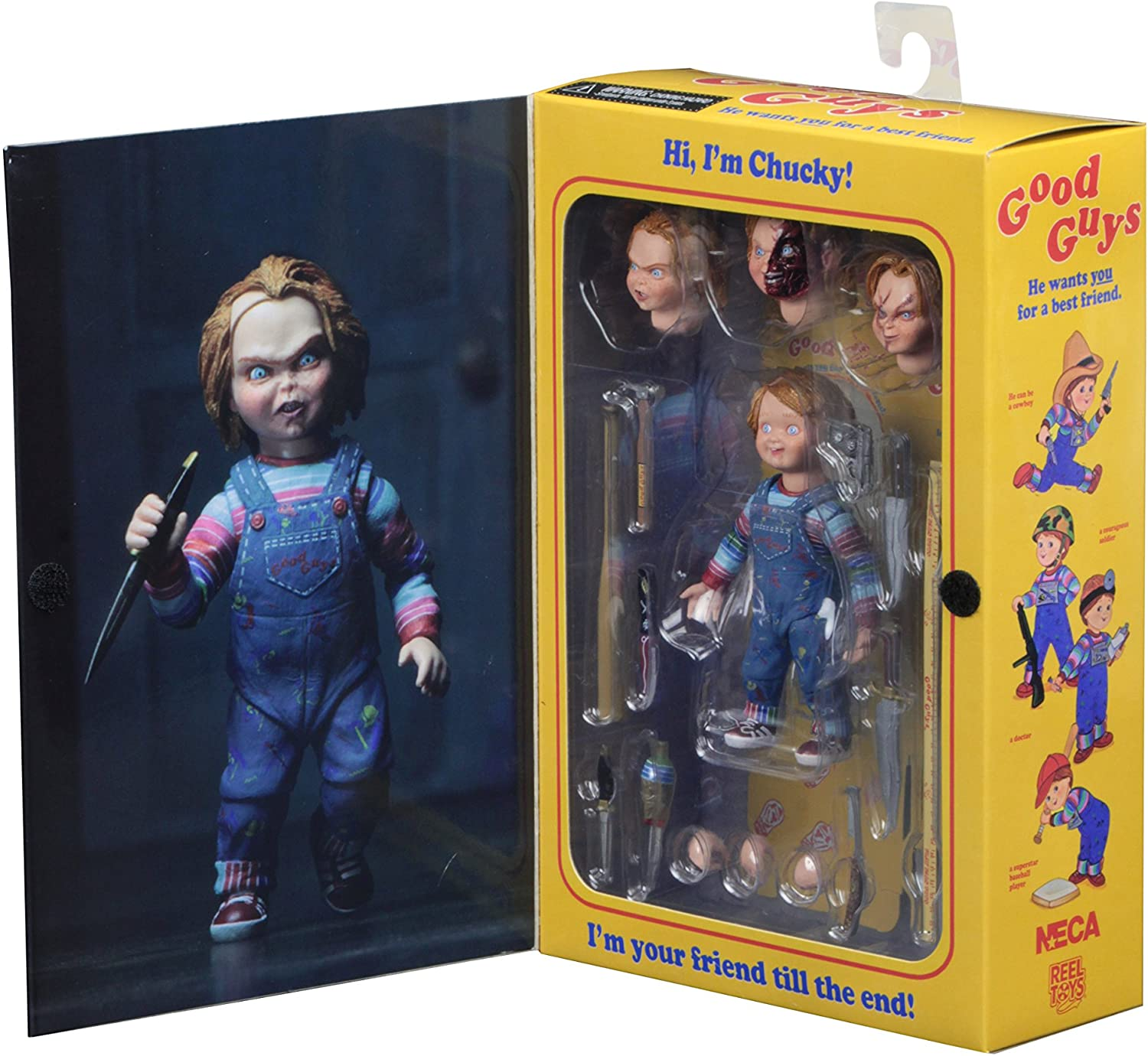 "4/"" Ultimate Chucky Doll Child/'s Play Good Guys Action Figure Toys Horror Collect"