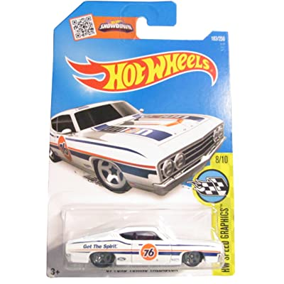 Hot Wheels 2016 HW Speed Graphics '69 Ford Torino Talladega 183/250, White: Toys & Games