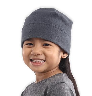 68195a76d84bf Tough Headwear Kids Fleece Winter Beanie Hat - Cold Weather Midweight Beanie  for Girls   Boys