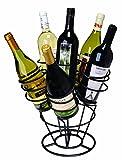 Oenophilia Bottle Bouquet Wine Rack, Black - 6