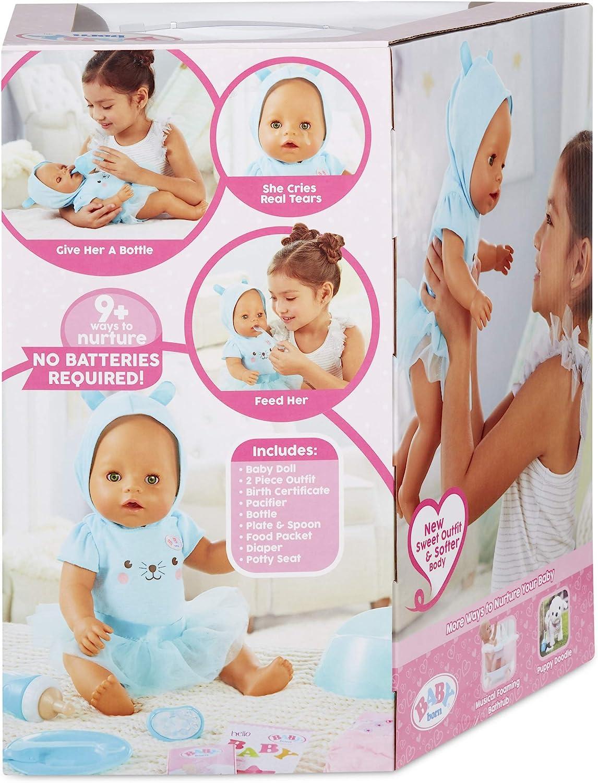 Baby Born Interactive Doll Green Eyes with 9 Ways to Nurture