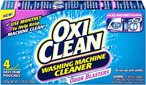 OxiClean Washing Machine Cleaner with Odor Blasters, 4 Count (2 Packs(4 Count))