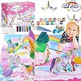 BATURU Unicorn Gifts for Girls Toys, Kids Unicorn Painting Kit, Art and Crafts Kit for Girls with Unicorn Headband