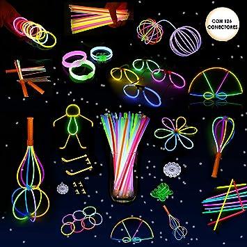 Whimsroom - Set fiesta 110 varitas luminosas multicolor con kit manualidades.: Amazon.es: Juguetes y juegos