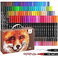 100 Colores con Rotuladores Punta Pincel Acuarelables Marcadores Caligrafía Lettering Para , Lettering, Bocetos, Dibujo…