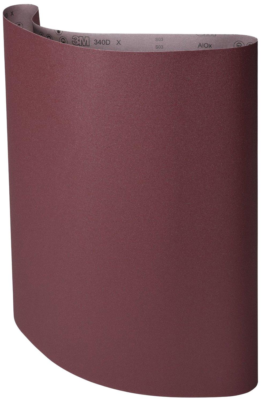 3M Cloth Belt 340D, Aluminum Oxide, 37'' Width 75'' Length, 80 Grit Film Media Splice (Pack of 3)