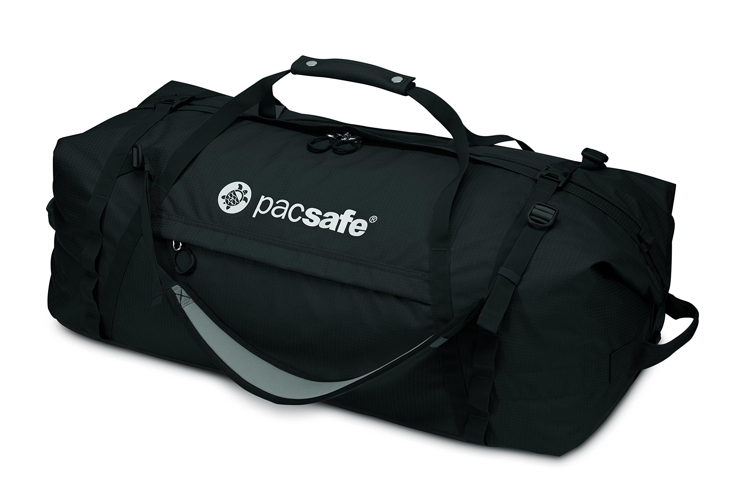 Pacsafe Duffelsafe AT100 Anti-Theft Duffel Bag, Black