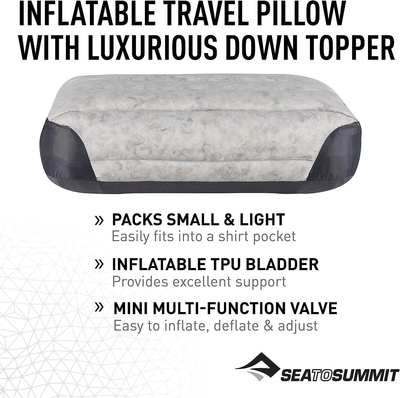 Alpinismo y Trekking Sea to Summit Aeros Down Pillow R Almohada Monta/ñismo Grey Gris Adultos Unisex Talla /Única