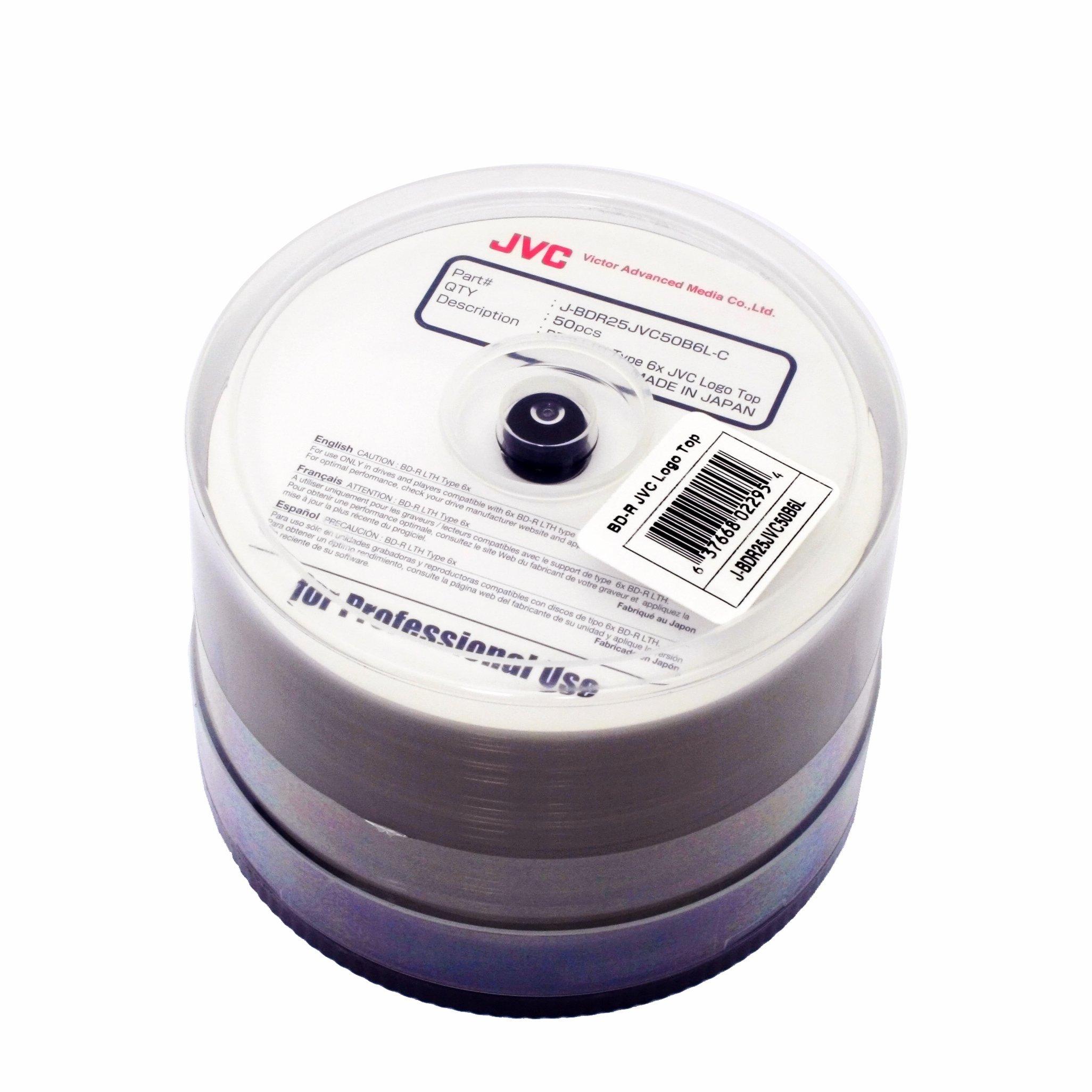 JVC BD-R LTH 6X 50PK CAKE BOX (made in Japan)