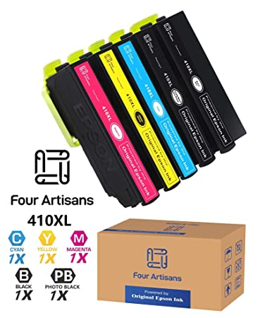 Amazon.com: FourArtisans - Cartuchos de tinta 410XL (5 ...