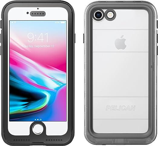 iPhone 7 Coque | Pelican Marine Coque étanche – Compatible avec iPhone 6/6s/7 (clair/noir)
