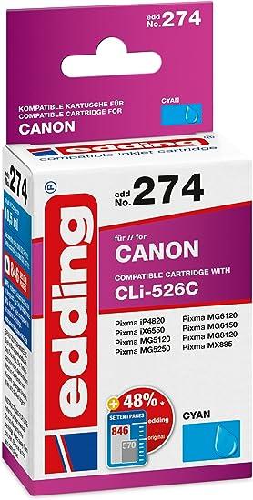Edding Tintenpatrone Edd 274 Ersetzt Canon Cli 526c Cyan 10 5ml Bürobedarf Schreibwaren