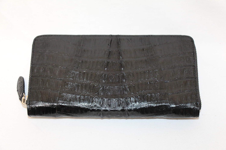d861bfdc5494 Amazon | マット仕上げ カイマン ワニ革 本革 ラウンドファスナー 財布 ブラック メンズ s45 | GRANZIA | 財布
