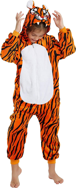 Kids Onesie Pajamas Animal Christmas Halloween Cosplay Onesies Fleece Cartoon Animal Costume