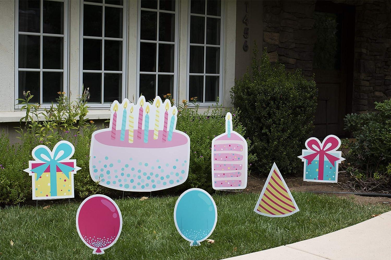 Yard Sign Funky Birthday Cake