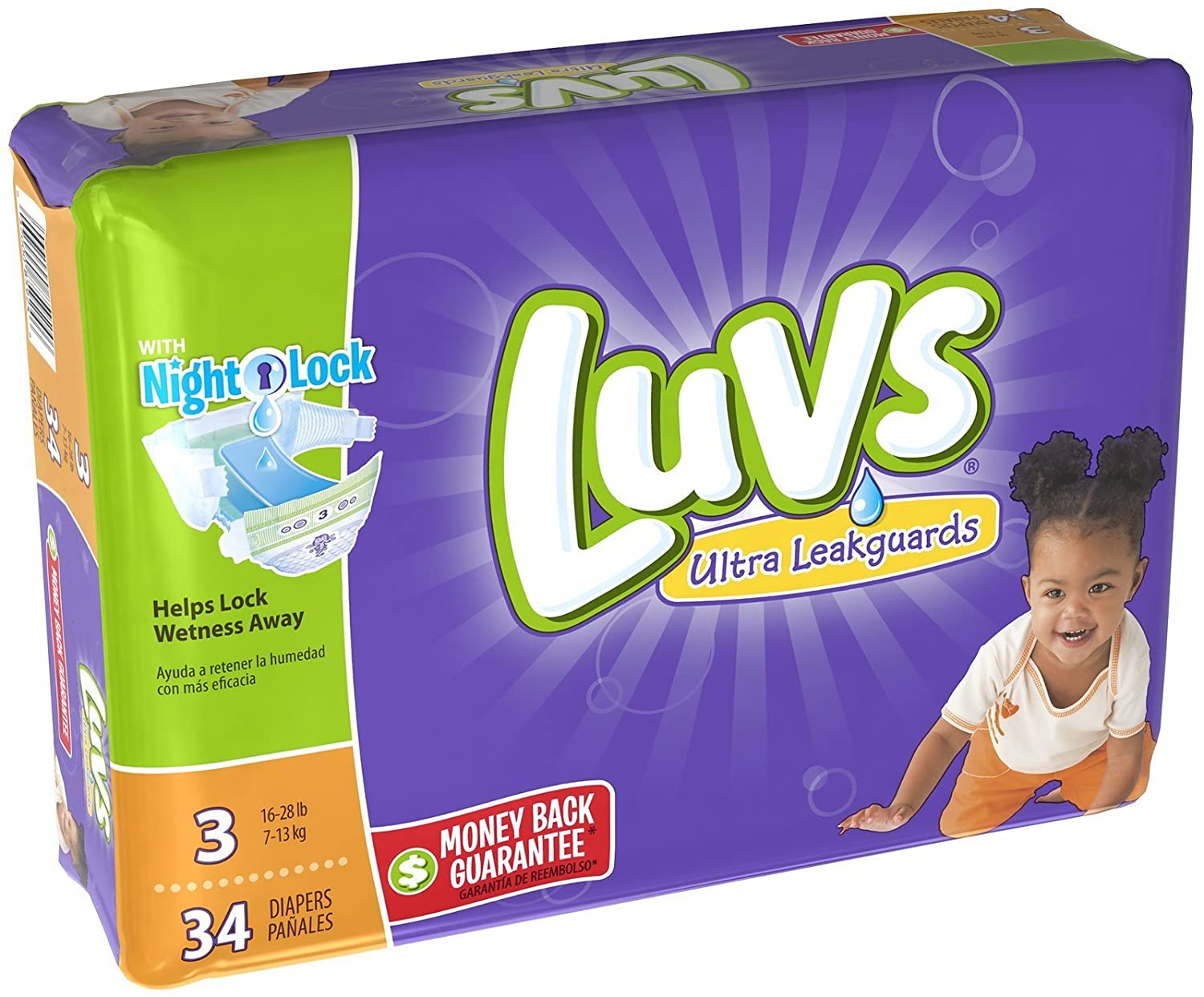 Luvs Ultra Leakguards Diapers - Size 3-34 ct: Amazon.com: Grocery & Gourmet Food