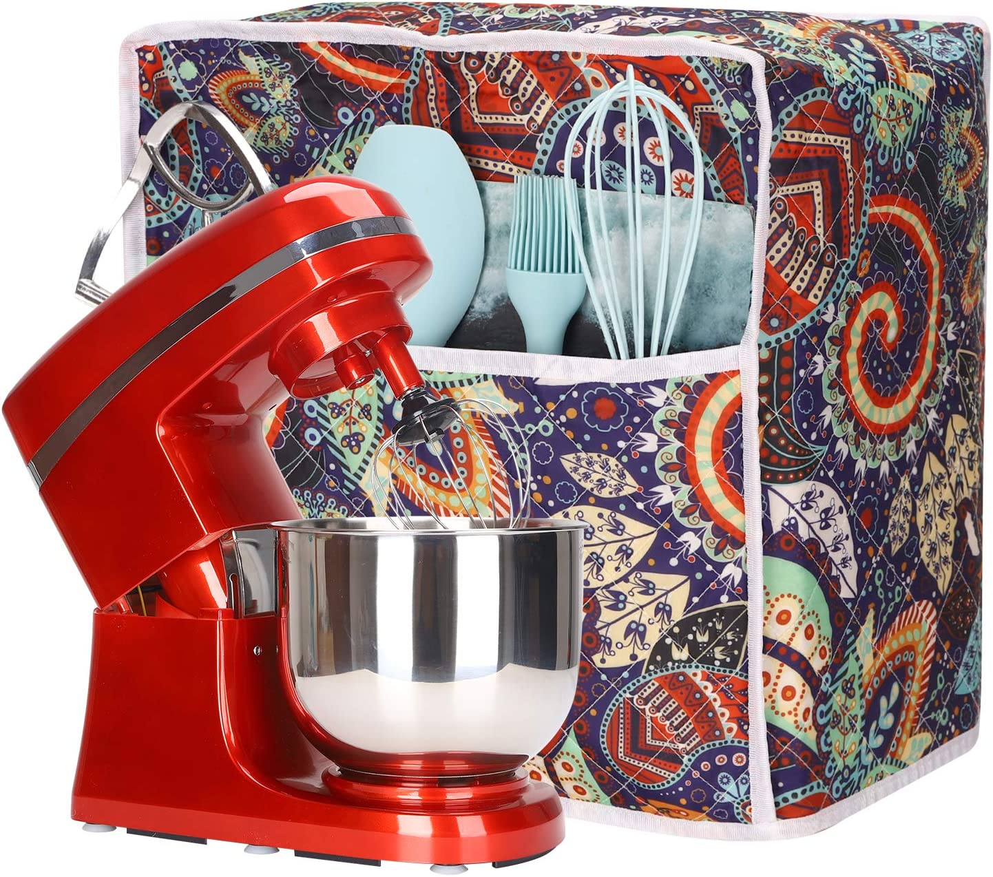 Mixer Dust Cover with Pockets Compatible with 4.5 Quart and All 6 ...
