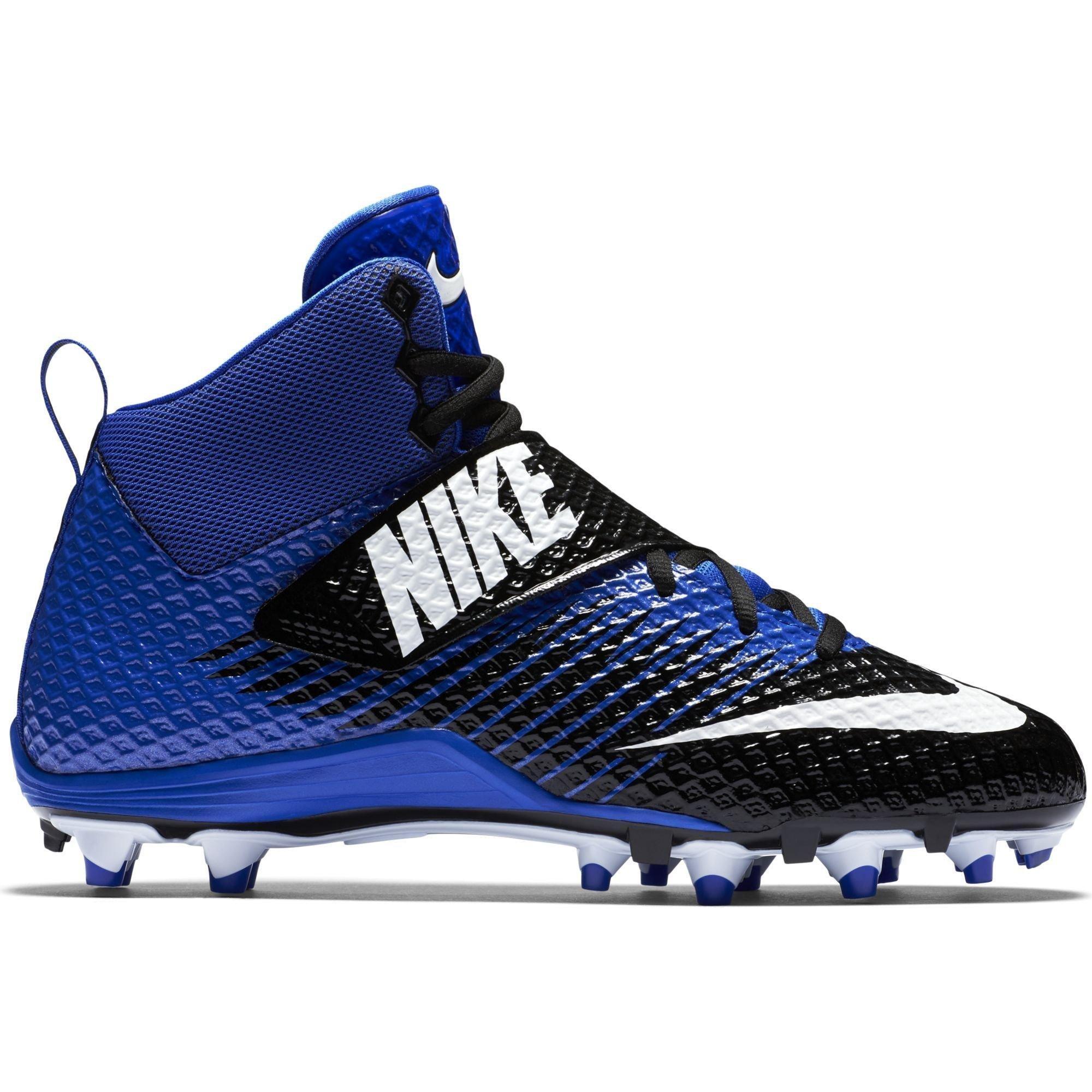 Nike Men's Lunarbeast Pro TD Football Cleat Black/Racer Blue/White Size 10 M US