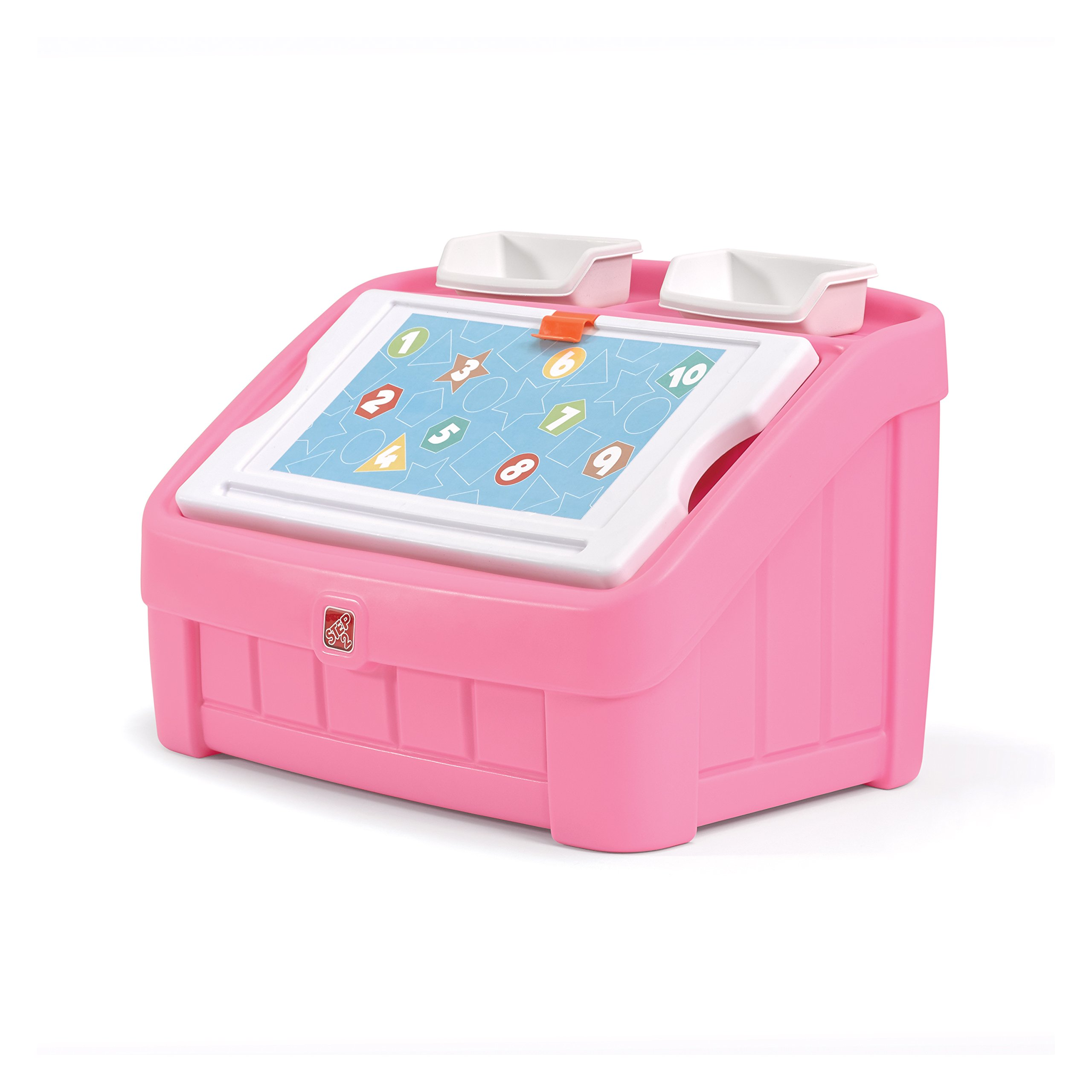 Step2 2-in-1 Toy Box and Art Lid, Pink by Step2