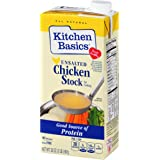 Kitchen Basics UnSalted Stock, Chicken, 32 Ounce (Pack of 12)