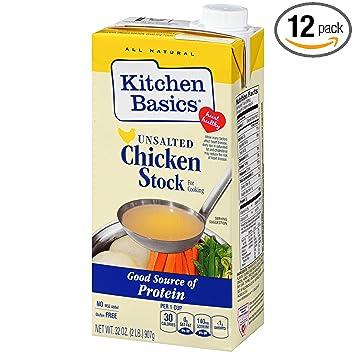 kitchen basics unsalted stock chicken 32 ounce pack of 12 - Kitchen Basics